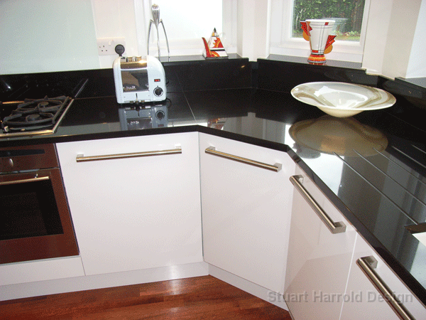Kitchens by stuart for Awkward shaped kitchen designs